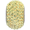 Swarovski 80101 BeCharmed Pave Round Bead 14mm Jonquil (12 Pieces)